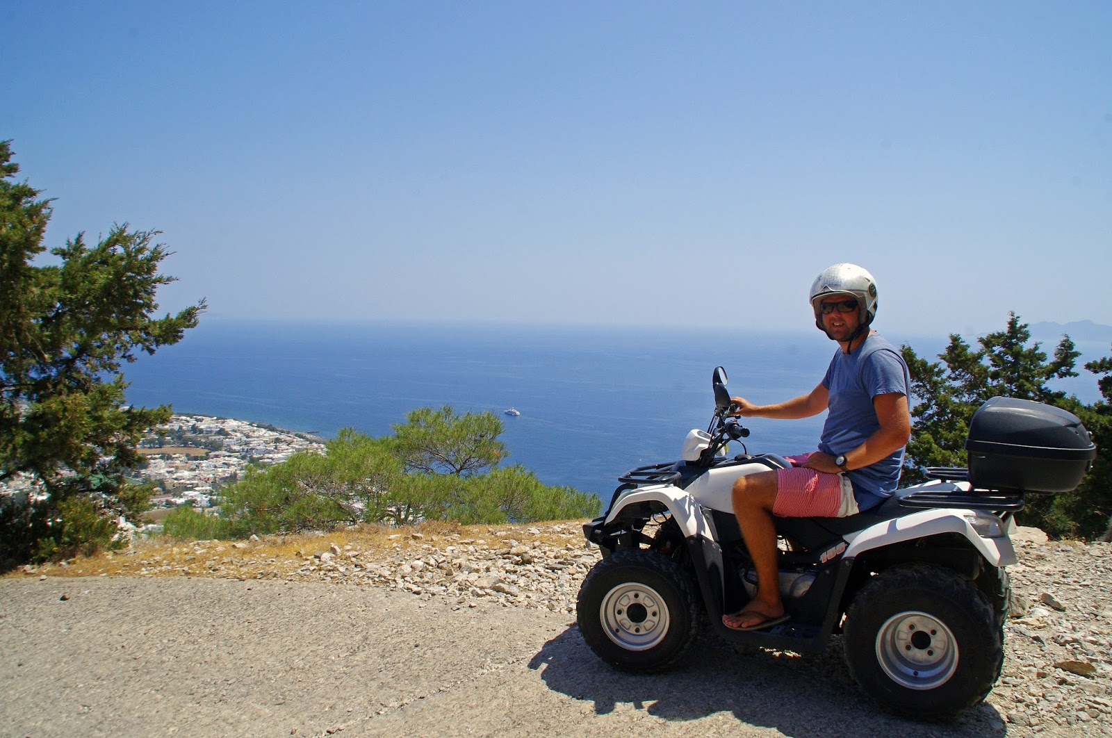 Male on Quad Bike Santorini