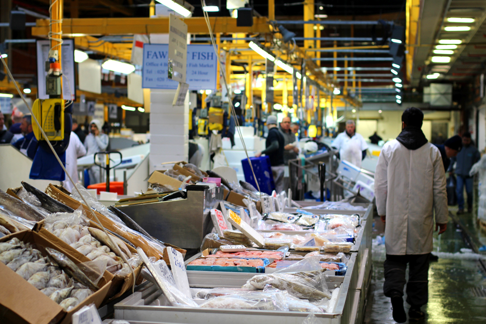 Billingsgate early Saturday morning - London foodie blog