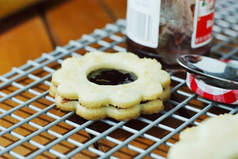Raspberry Jam Sandwich Cookies