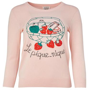 Joanie Clothing Hermione Le Pique-Nique Slogan Knit   Cate Renée