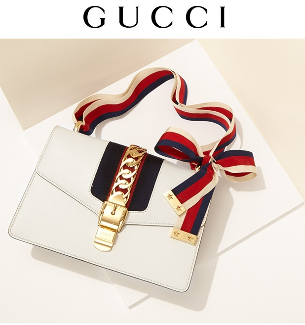 Gucci Sylivie Ribboned Leather Shoulder Bag