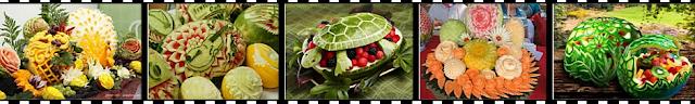 видео на YouTube по резьбе из овощей и фруктов для украшения блюд
