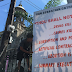 Banners against killings on display at Bacolod Cathedral