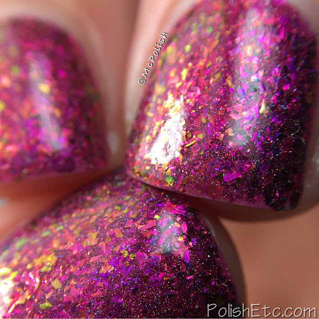 Top Shelf Lacquer - Holiday Flake Out Collection - McPolish - Cranberry Moscow Mule