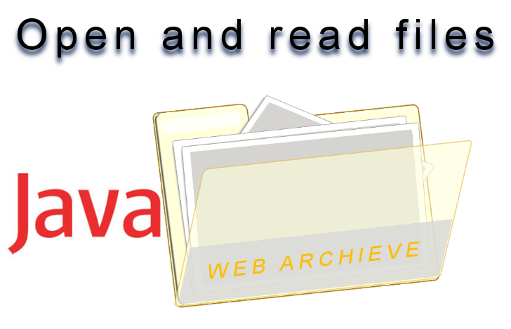 Open and read any file in a  war file of a web application