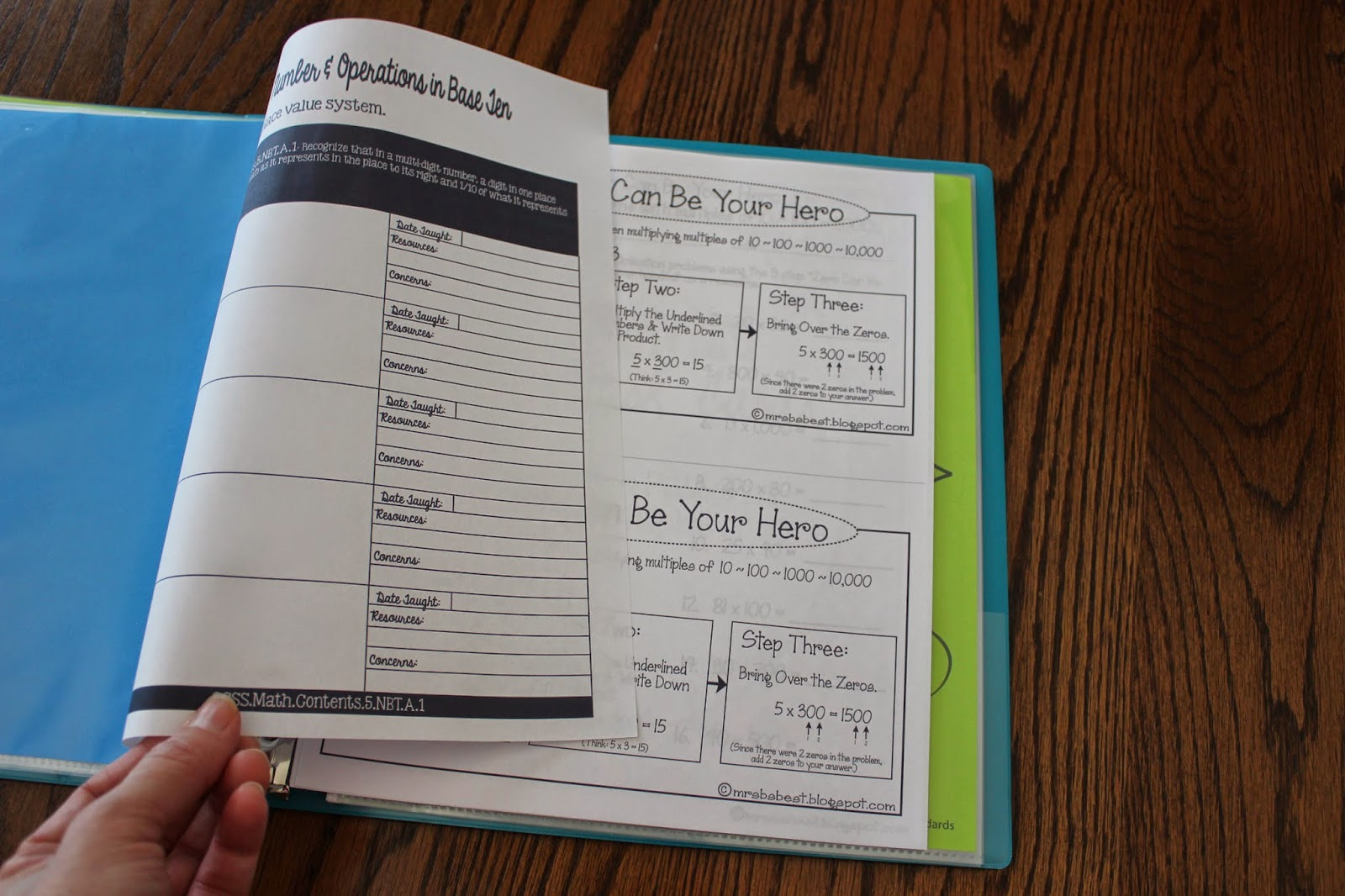 Common Core Binder Amp Tracker Putting It All Together