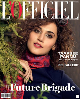 Taapsee Pannu looks sweet cute innocent on L Officiel India Magazine August 2017
