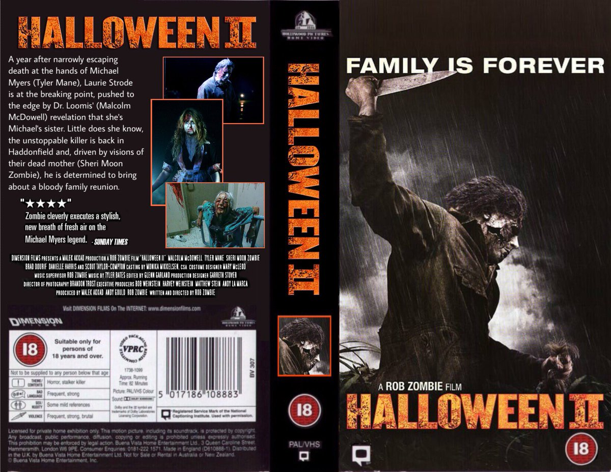 The Horrors of Halloween: HALLOWEEN 2 (2009) VHS, DVD and