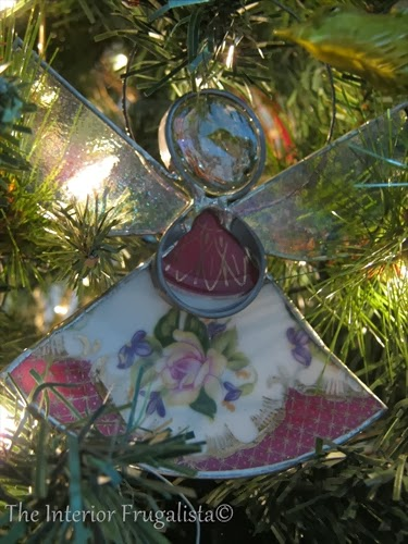 Teacup Angel Christmas ornament