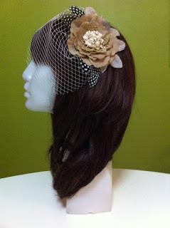 gelin nikah düğün vualet nikah şapkası vizon rengi