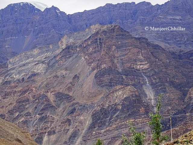 Pattern on Mountains of Spiti