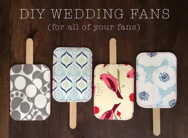 DIY Wedding Fans | Do it yourself ideas and projects