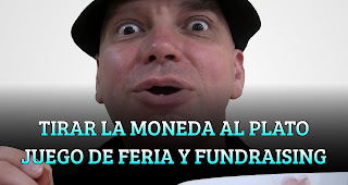 TIRAR LA MONEDA AL PLATO JUEGO DE FERIA Y FUNDRAISING