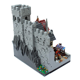 Woodstock Castle Lego MOC Medieval Battlements Section