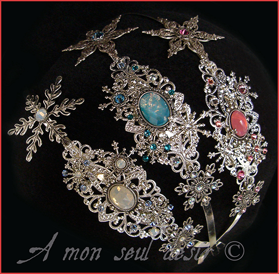 Winter Snow Queen Snowflakes Silver Headband Headdress Elsa Disney Frozen Wedding