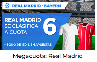 Paston Megacuota 6 Champions Real Madrid se clasifica final 1 mayo