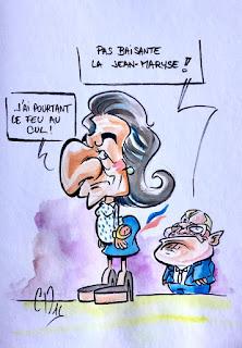 Caricature Jean-Maryse Sarkozy. ©Guillaume Néel