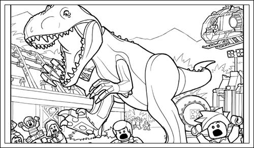 Ausmalbilder Jurassic World zum Drucken