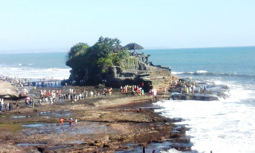 Tanah Lot Hindu Bali Sea Temple with sunset view Tourist Object - Bali, Beraban, Village, Sea Temple, Sunset, Hindu, Shrines, Tanah Lot, Kediri, Tabanan, Attractions
