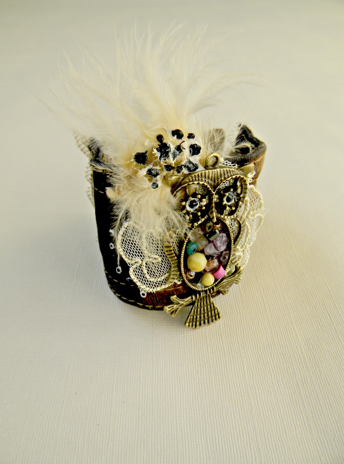"""Luma, the Little Owl"" Bracelet-Cuff"
