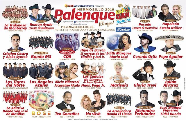 palenque hermosillo 2016