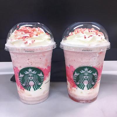 Starbucks Thailand - Strawberry Honey Blossom Creme Frappuccino