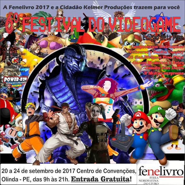 Fenelivro terá 6º Festival do VídeoGame-PE e o Concurso Cosplay Power-Kon Recife como novidades este ano que prometem agitar o público de todas as idades