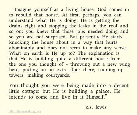 Cs lewis god is building a house