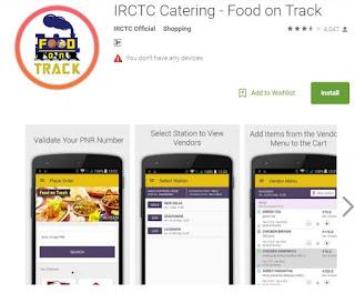 food on track irctc app
