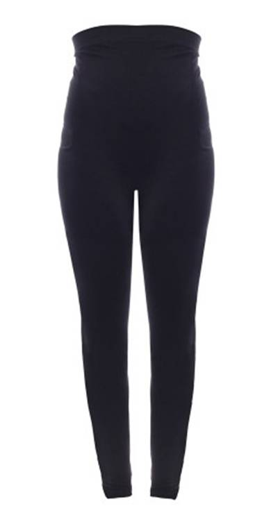 Cropped Seamless Under-Bump Maternity Leggings