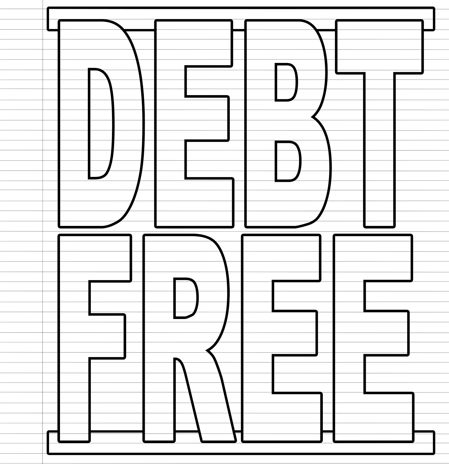 graphic about Free Printable Debt Free Charts known as Contemplate It Outlined: Visible Personal debt Payoff Charts