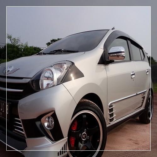 Modifikasi Velg Mobil Agya Warna Silver