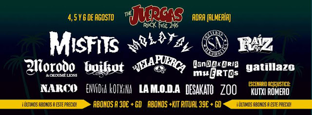 The Juergas Rock 2016, cartel, avance 3
