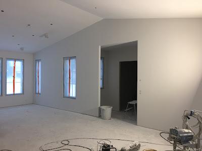 pohjamaalaus, seinien tasoitus, Jukkatalo, omakotitalon rakentaminen