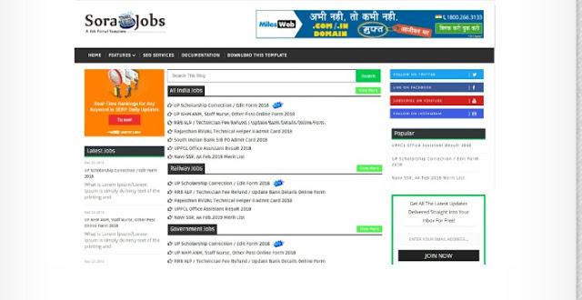 How To Customize Sora Job Blogger Theme