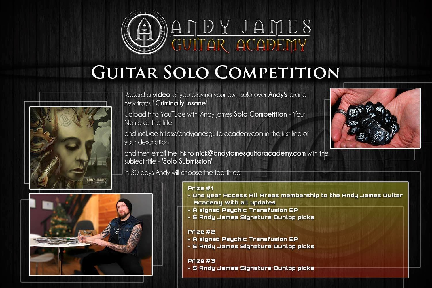 Andy James: Its competition time!!! Win free stuff of huge