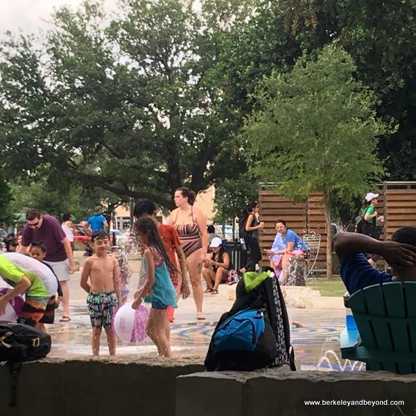 splash pad at Hemisfair in San Antonio, Texas