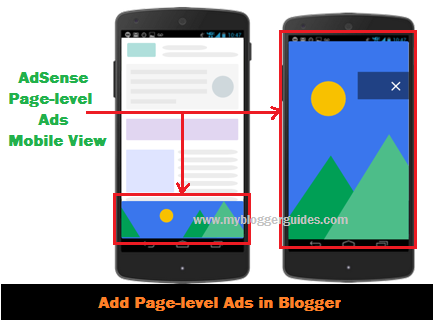 How To Add AdSense Page-level Ads in Blogger Template for Mobile View
