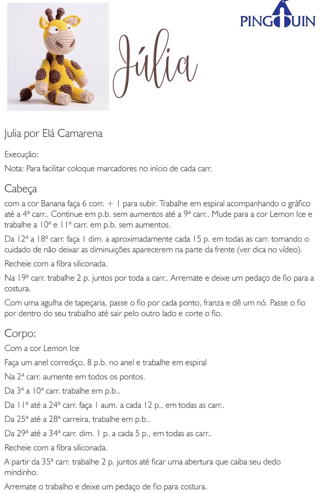 Amigurumi Girafa Listrada no Elo7 | ARTESANATO FLOR DE LIS (EB8129) | 1600x1062