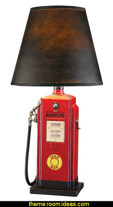 Fuel Chief Gas Pump Sculpture Statue Table Lamp