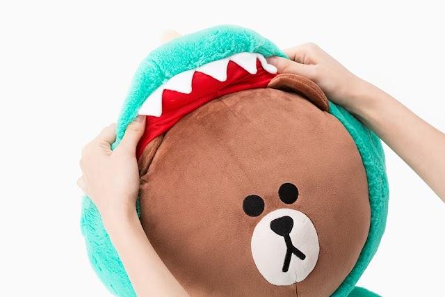 【韓國限定】Line Friends熊大玩cosplay 扮恐龍可愛到爆燈