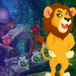Play Games4King Grumpy Lion Escape