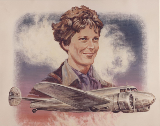 Amelia Earhart Tribute Vintage Everyday