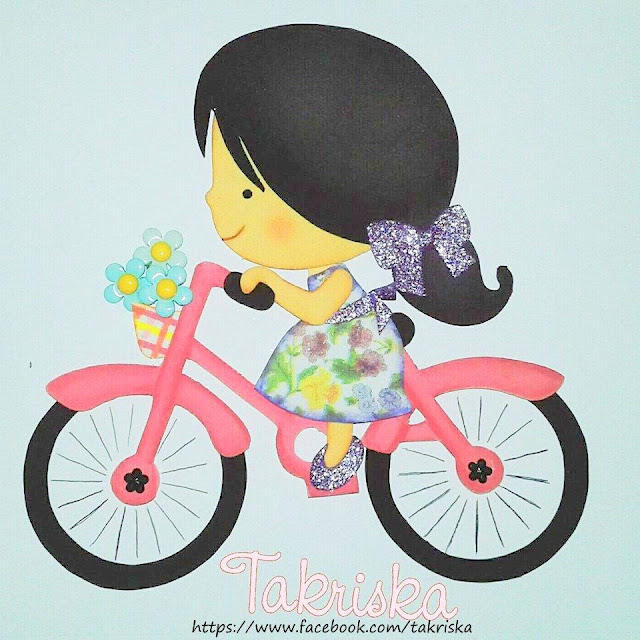 10- Niña en Bicicleta Descarga Moldes Gratis