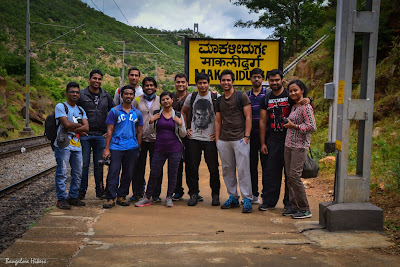 Makalidurga trekking, group photo