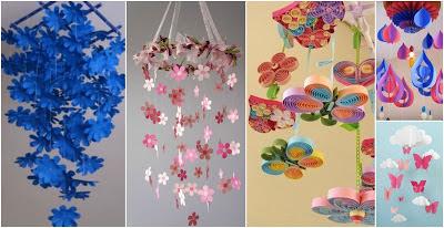 Móvil-de-flores-de-papel