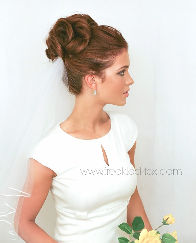 Surprising The Freckled Fox Wedding Hair Week High Curly Bun By Emily Meyers Hairstyles For Women Draintrainus