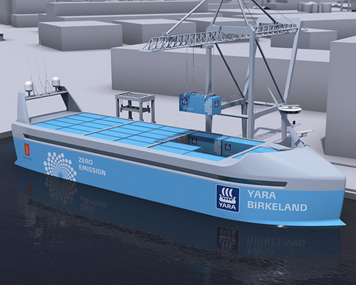Tinuku Yara and Kongsberg announced all-electric and autonomous cargo ships