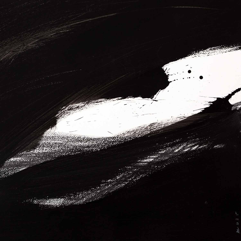 45 x 45 cm, acrylique et graphite sur papier, 10 mars 15