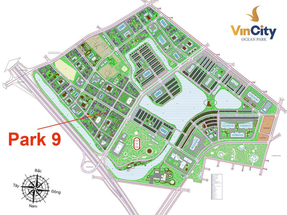Vị trí Tòa Park 9 VinCity Gia Lâm